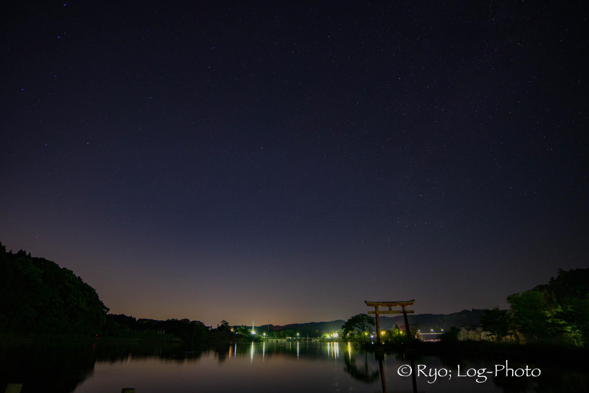 日中とは違った表情 千葉県 亀山湖 夜景