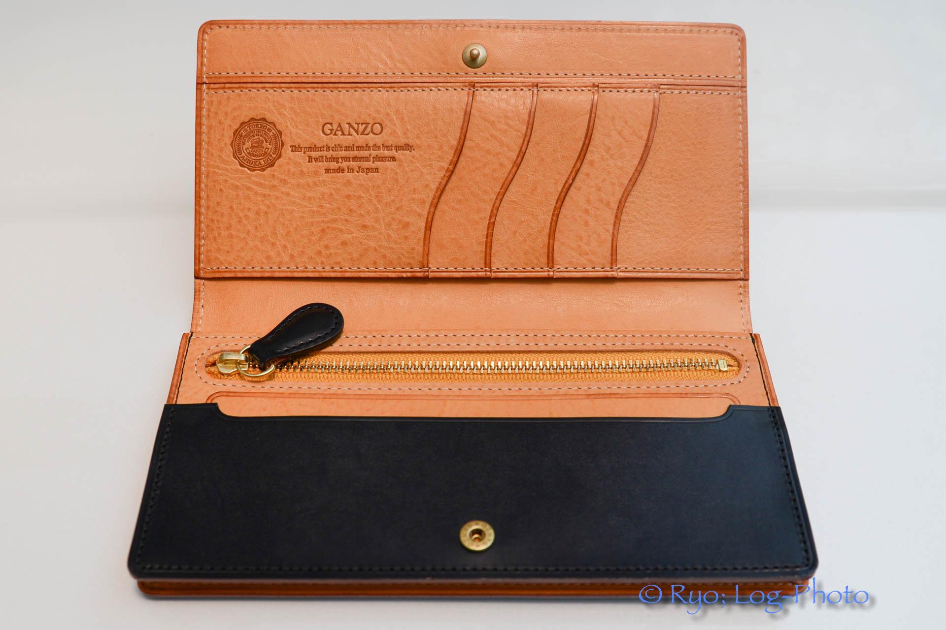 GANZO 財布 シンブライドルレザー