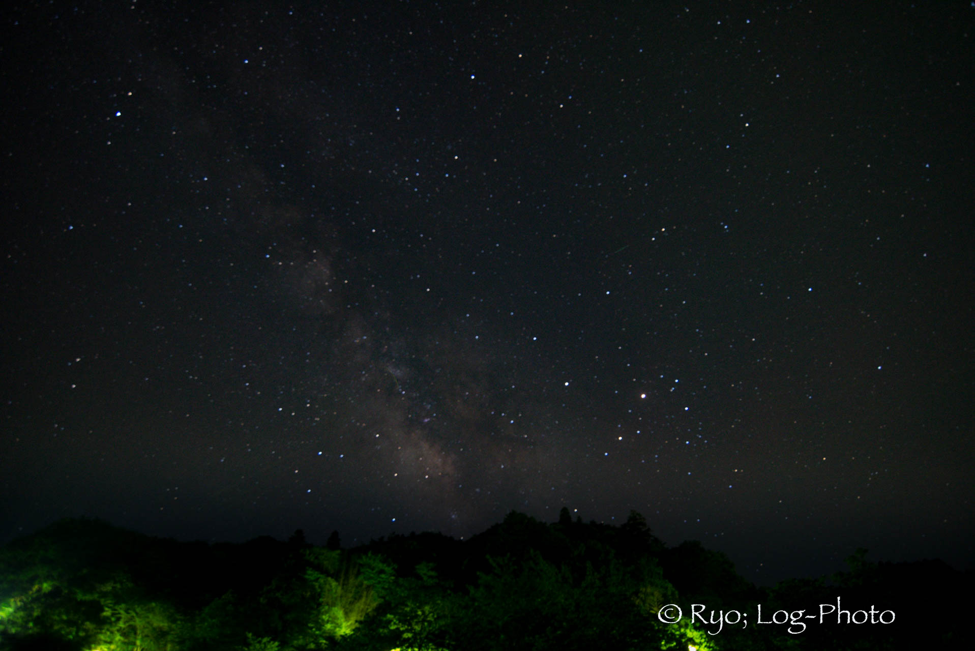 千葉県 亀山湖 夜景 天の川