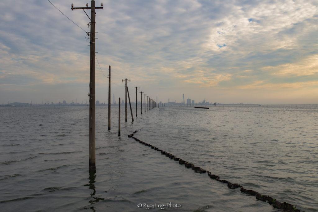 江川海岸 満潮