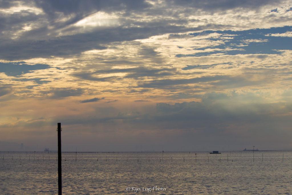 江川海岸 夜景 夕日