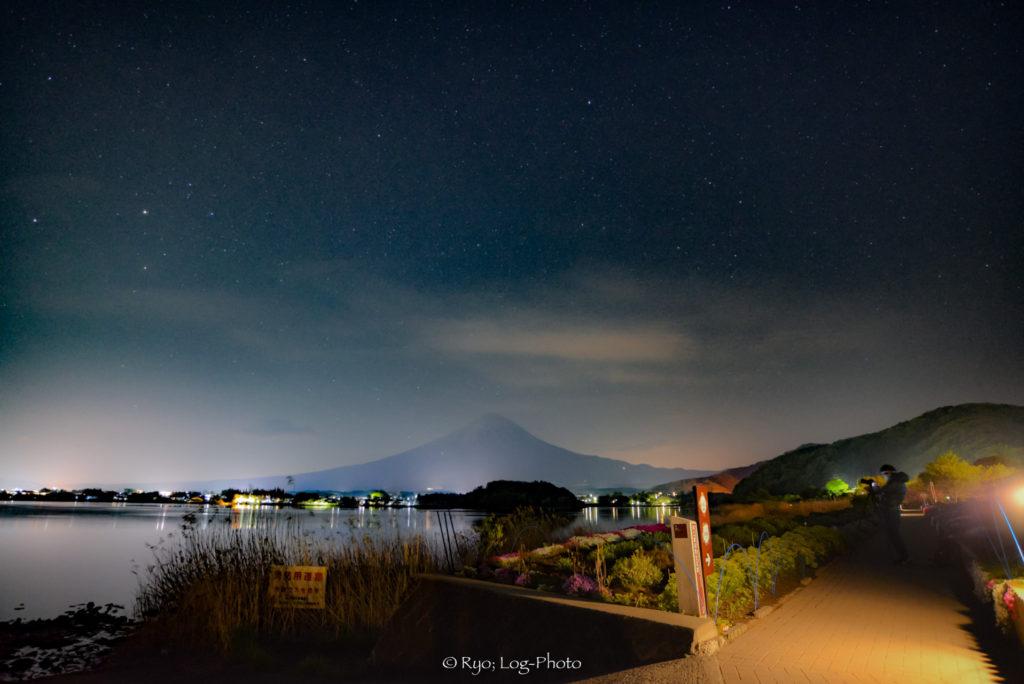 夜 星 河口湖 星空