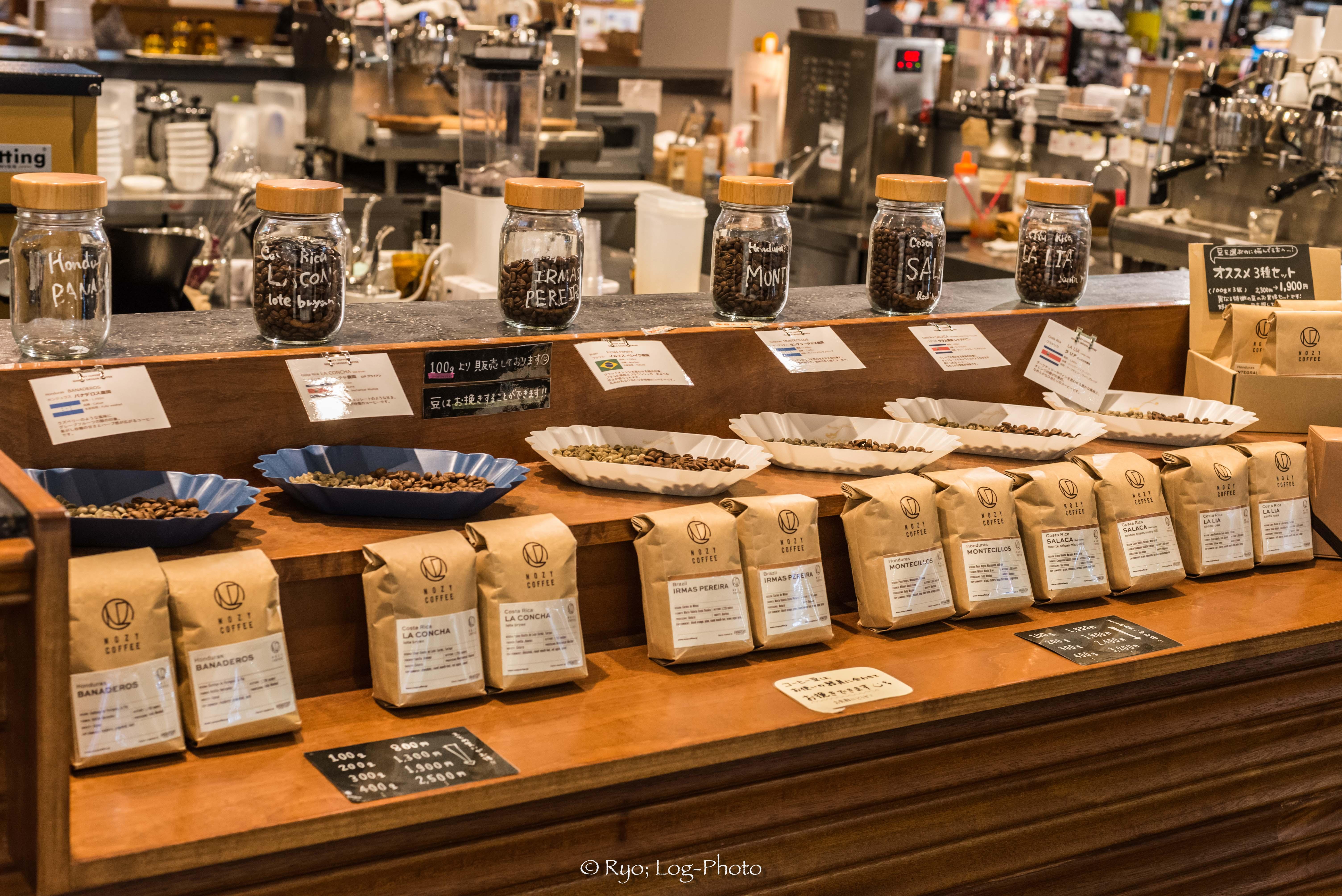 nozycoffeeノージーコーヒー木更津 豆の種類