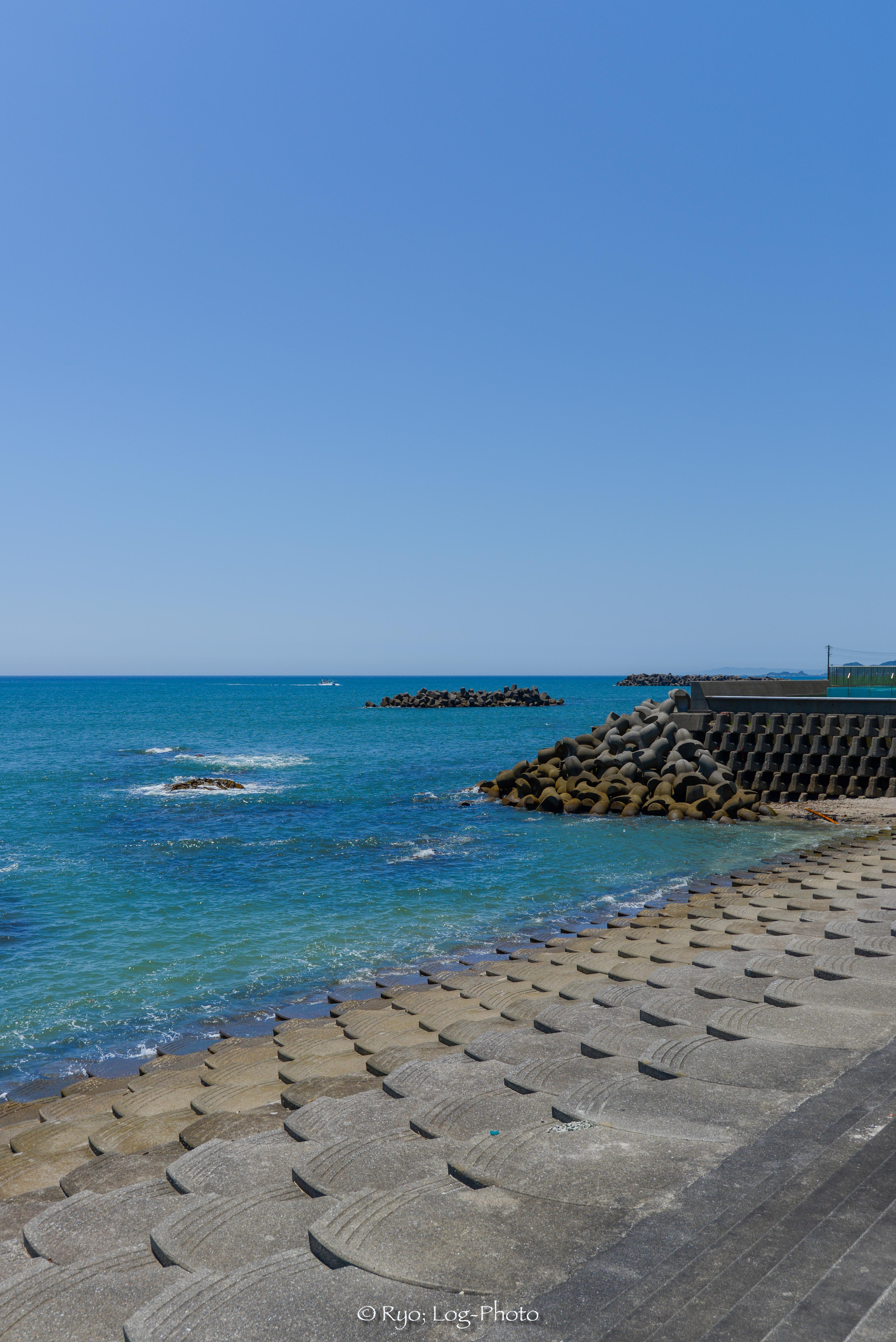 城崎海水浴場の末端