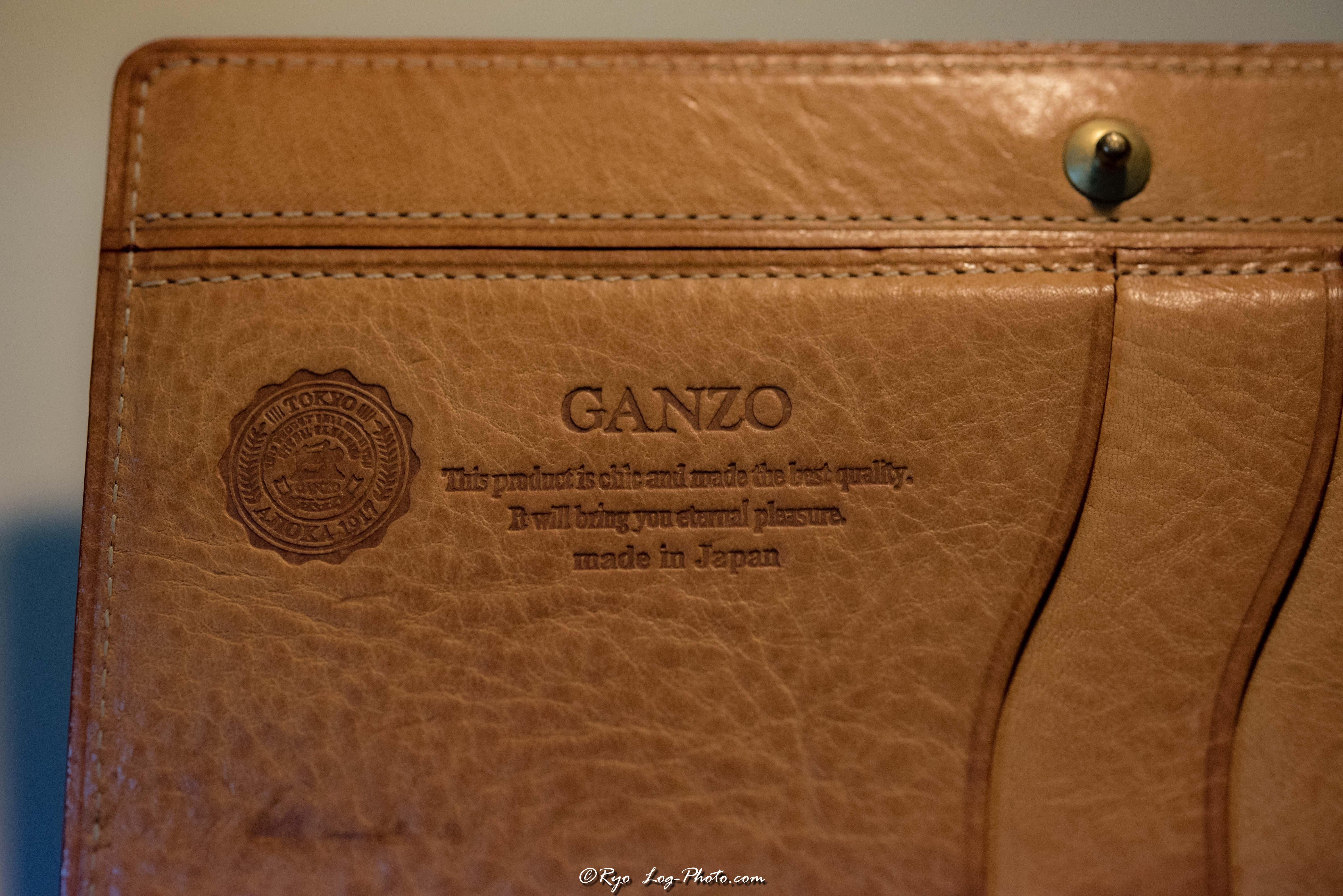 ganzo(ガンゾ)のブライドルレザー 財布 経年変化