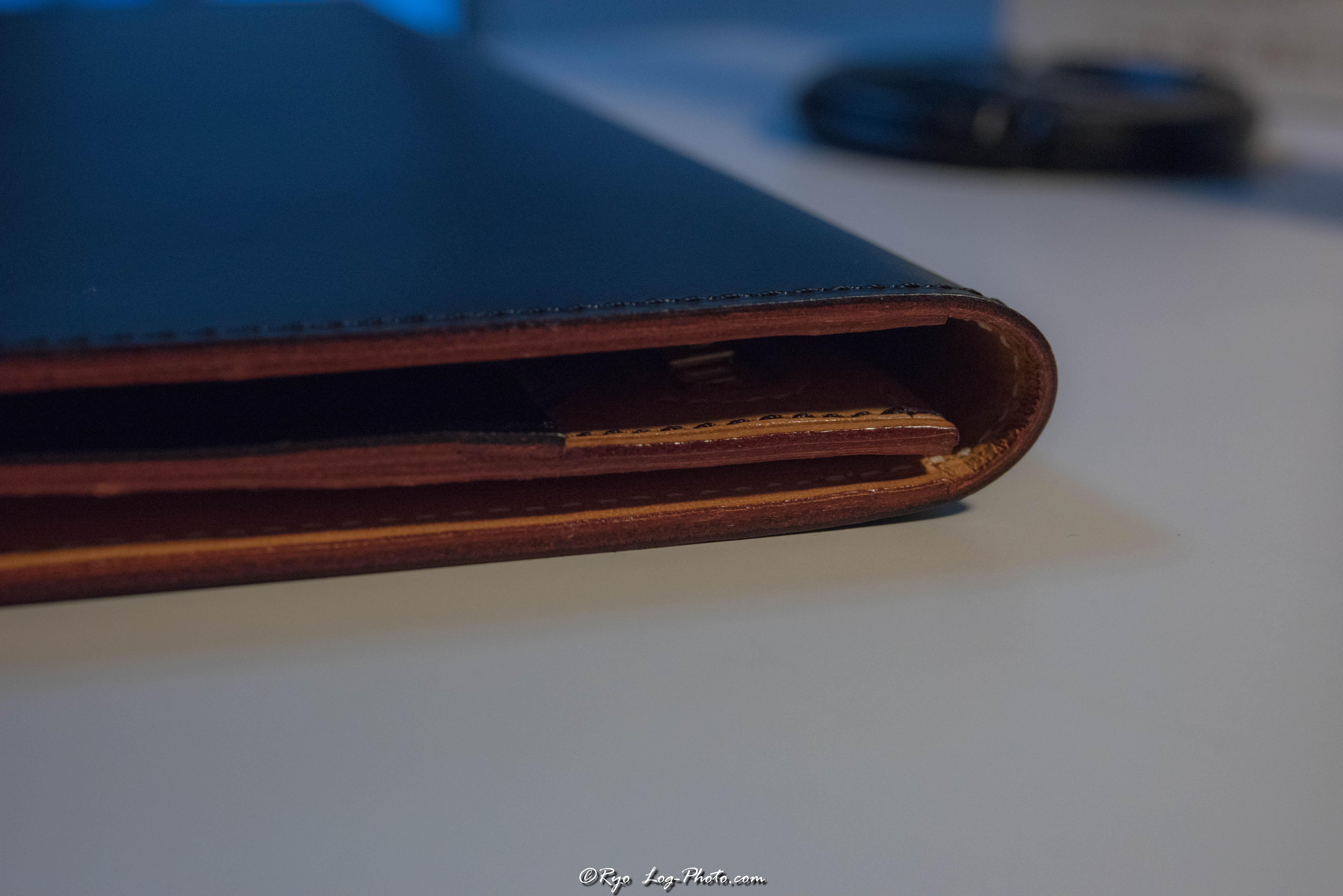 ganzo(ガンゾ)のブライドルレザー 財布コバ