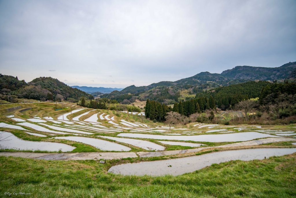 大山千枚田、田植え前の景色