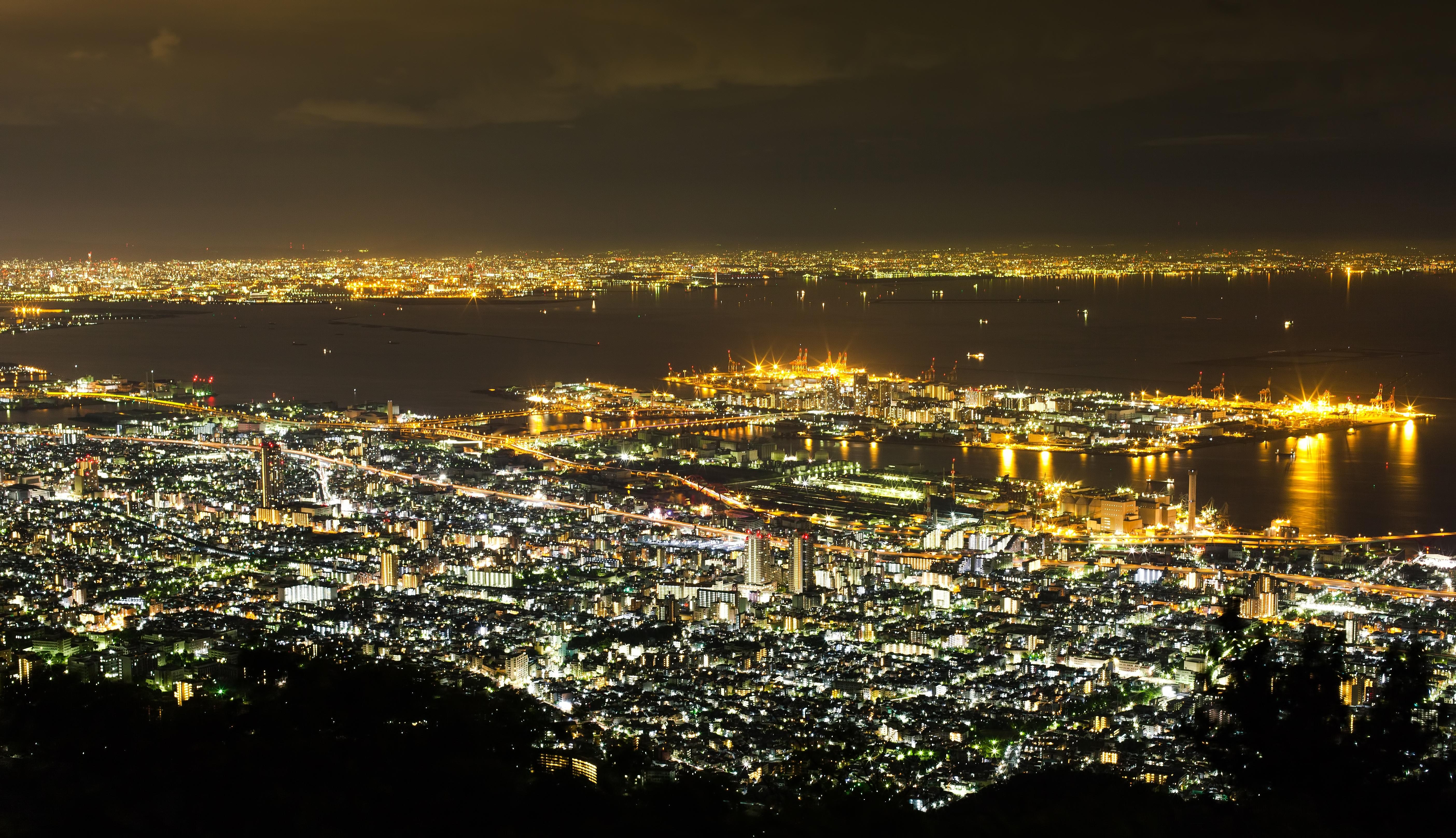 六甲山 夜景 神戸
