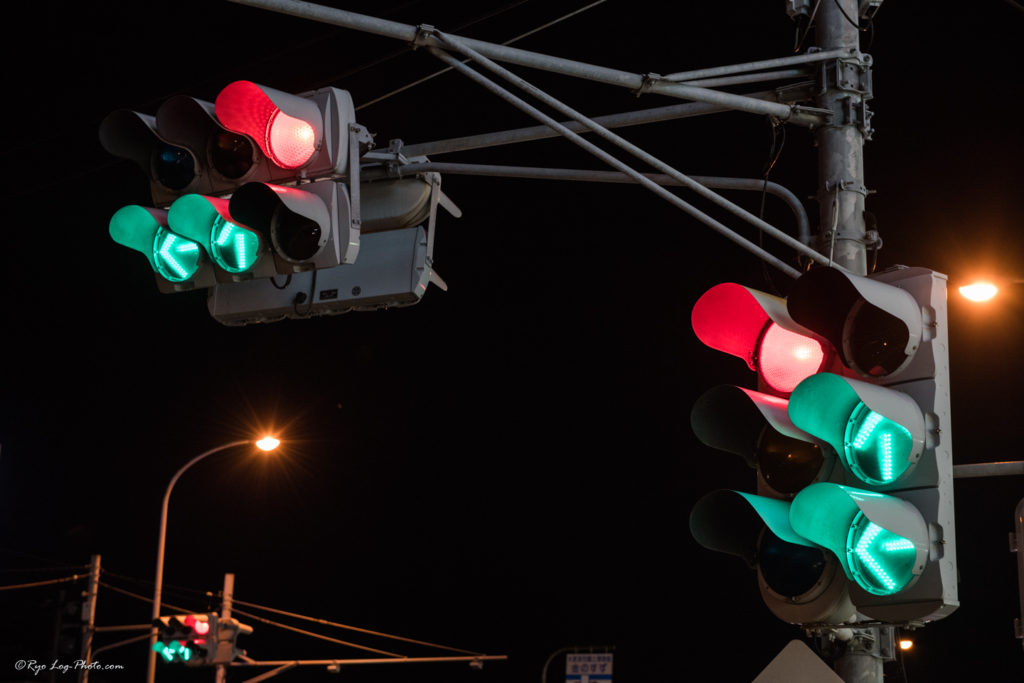 木更津 夜景 信号