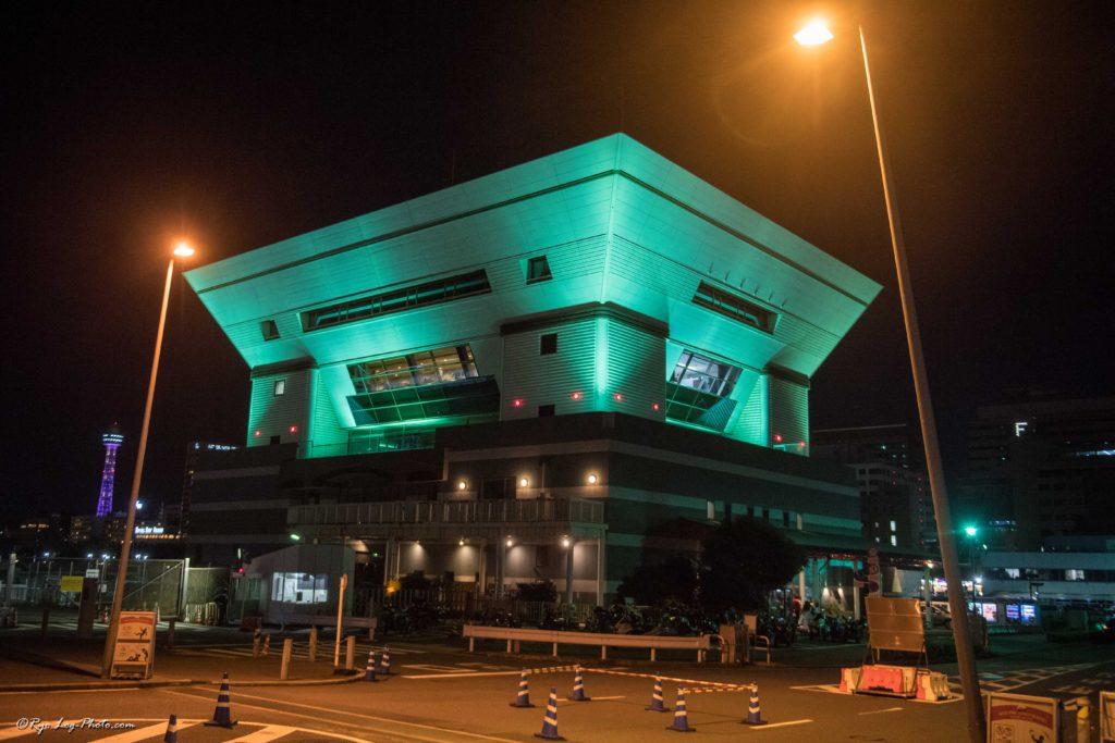 大桟橋 建築 建造物 夜景