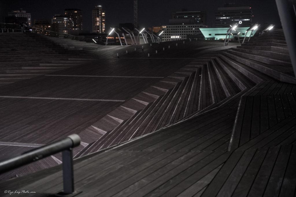大桟橋 モノクロ