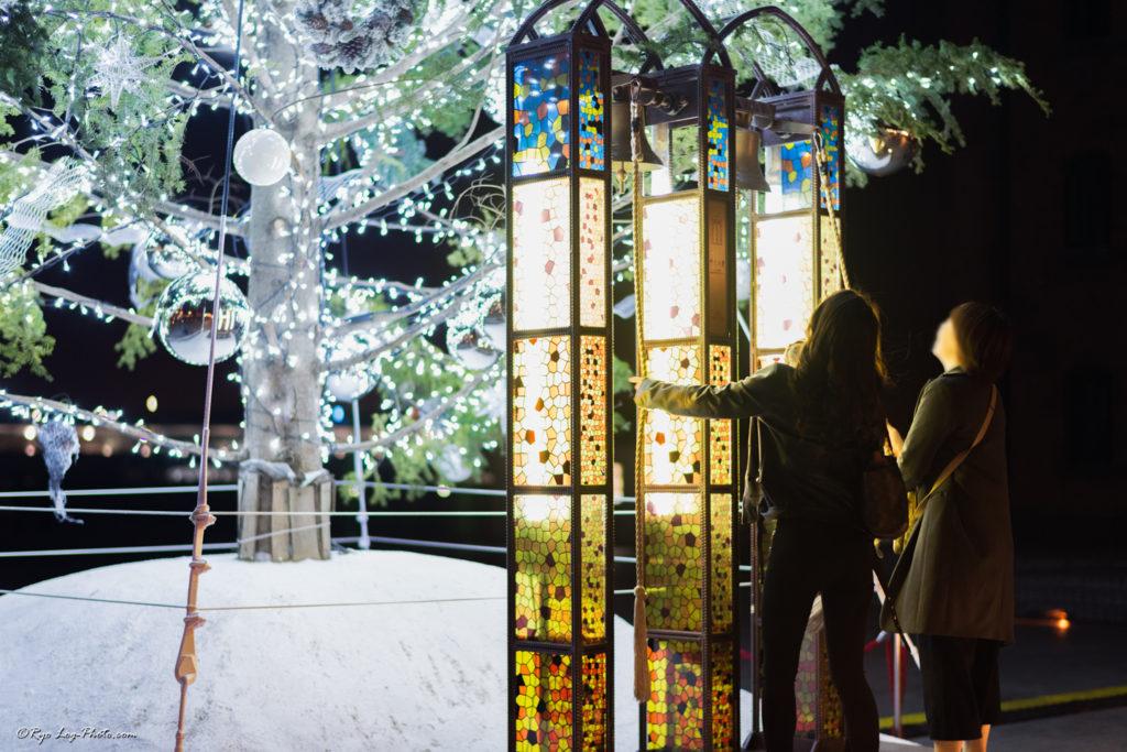 横浜赤レンガ イルミネーション 幸せの鐘