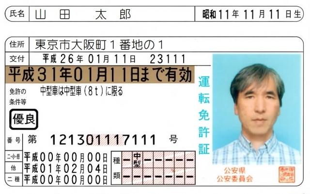 免許証 更新