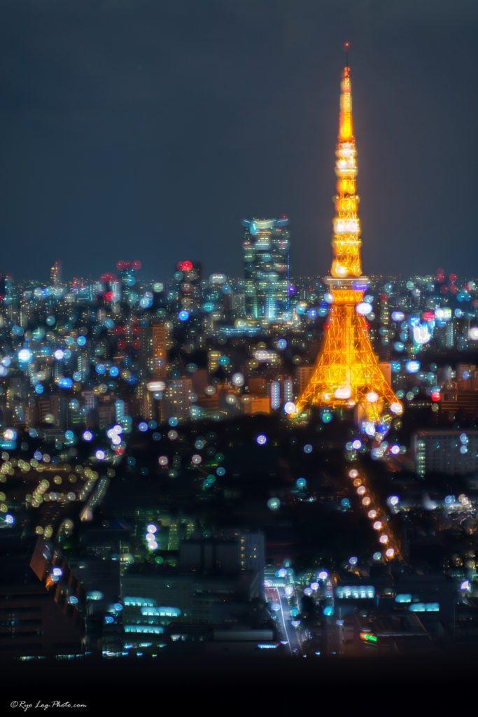 貿易センタービル 夜景 三脚 東京タワー