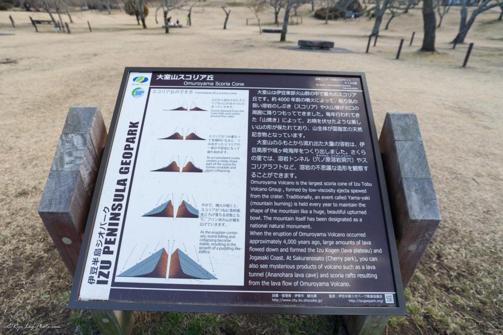 大室山 スコリア丘 火山