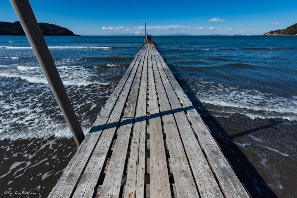 原岡海岸 桟橋 木製