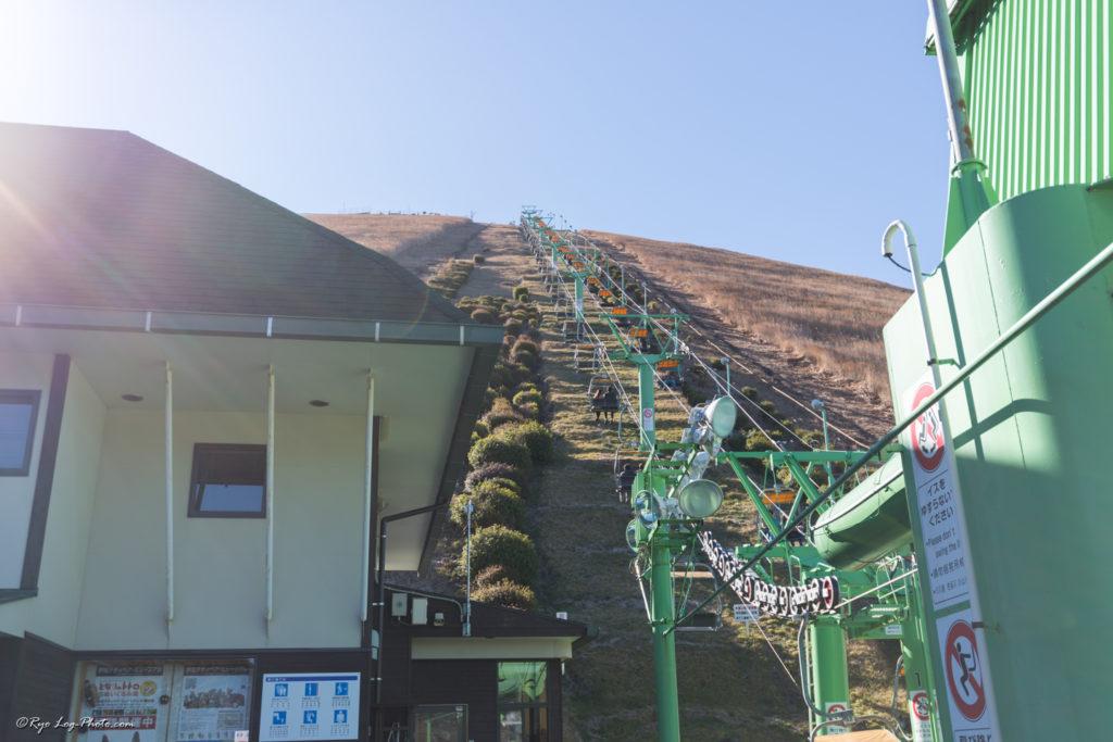 大室山 リフト 頂上