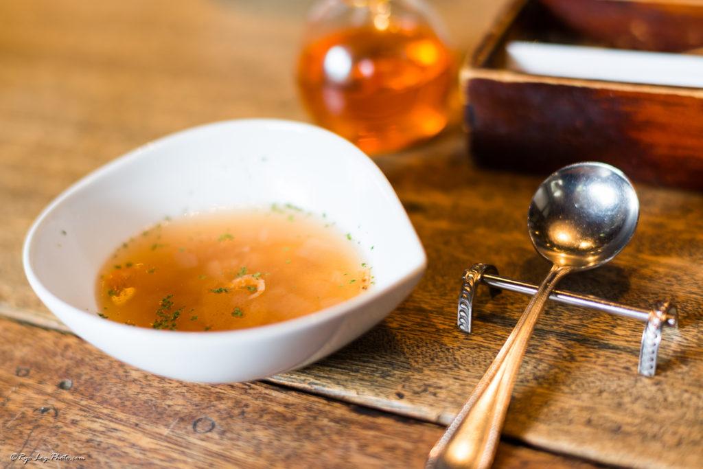 mokichi 平日限定モキチランチコース スープ エビ