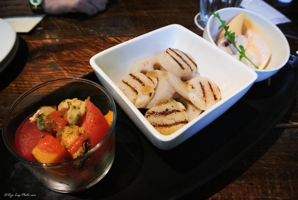 mokichi 前菜3種盛り合わせ