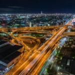 大阪 高速 夜景