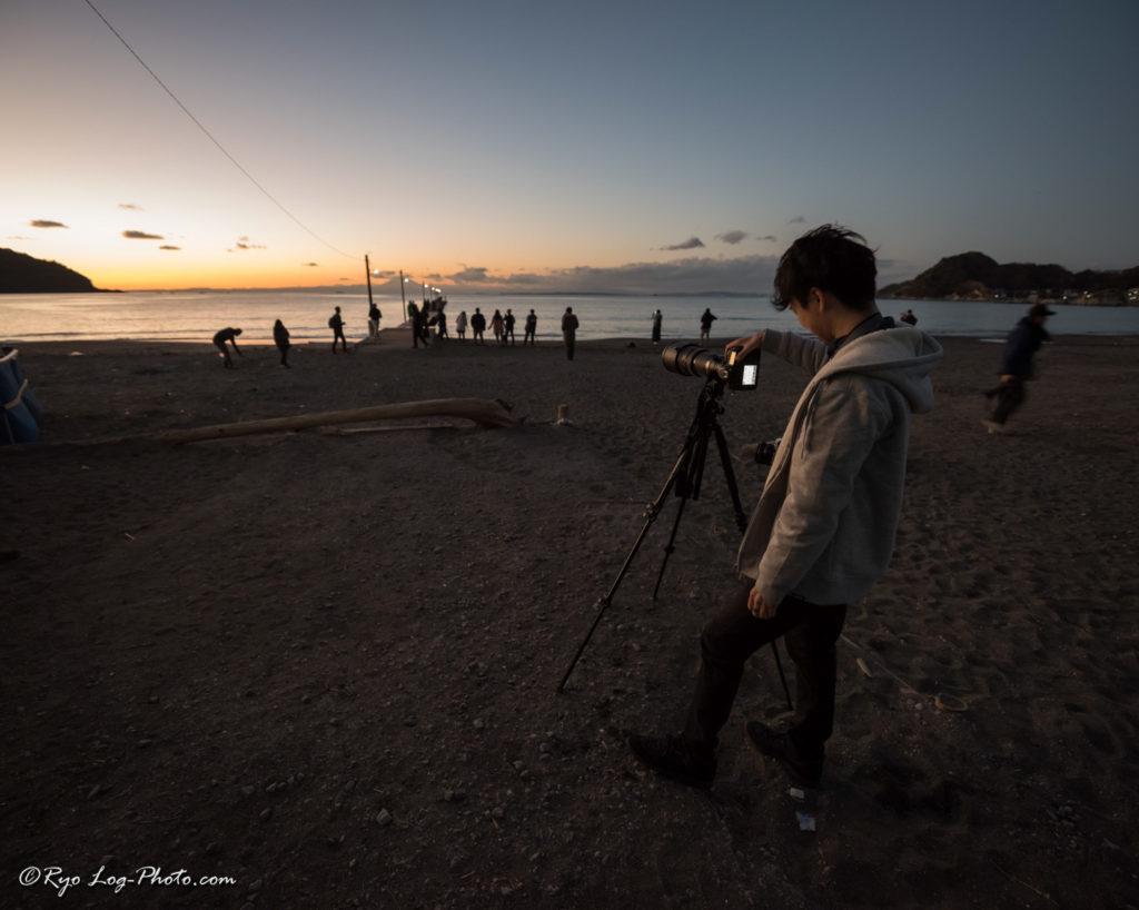 haraoka 原岡海岸 撮影 日の入り