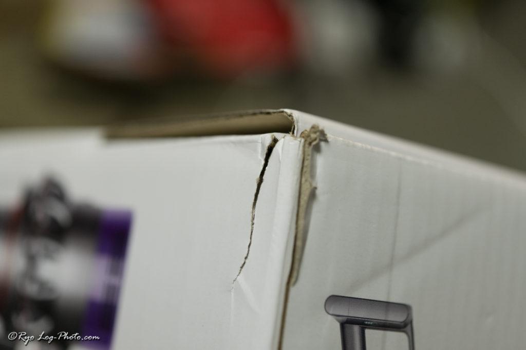 Dyson V10 Fluffy SV12 箱つぶれ 梱包