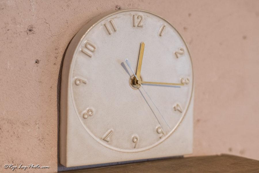 北條潤 陶器 時計